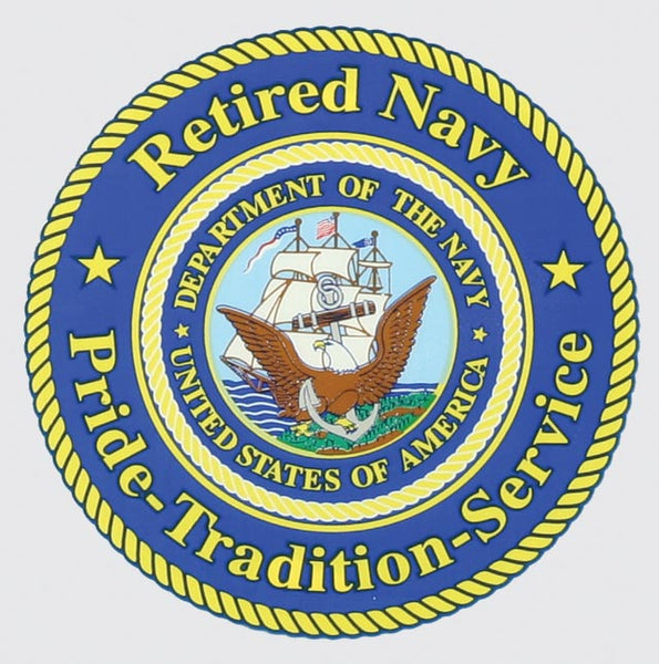 Retired Navy, Pride-Tradition-Service Decal