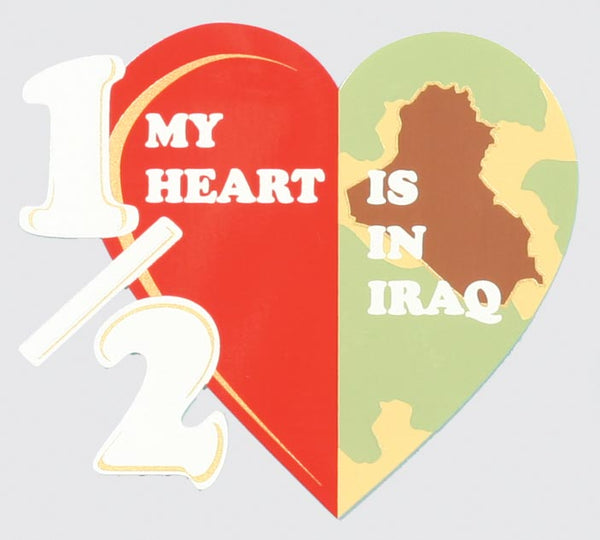 Half My Heart is in Iraq Decal - HATNPATCH