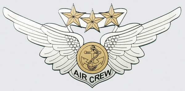 "Combat Aircrew Wing 6"" Decal"