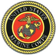 USMC Emblem Embossed Foil Sticker