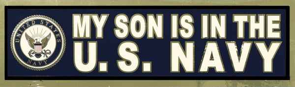 My Son is in the Navy Bumper Sticker - HATNPATCH