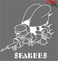 "Seabees 13"" Jumbo Vinyl Transfer Decal - HATNPATCH"