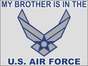 My Brother is in the Air Force New Logo Decal