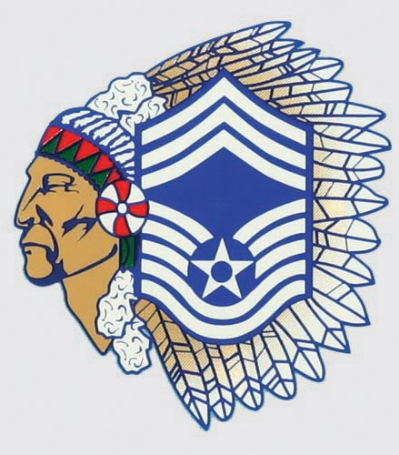 MSGT Air Force Chief (Indian Head) Decal