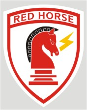 U.S. Air Force Civil Engineer Red Horse Decal