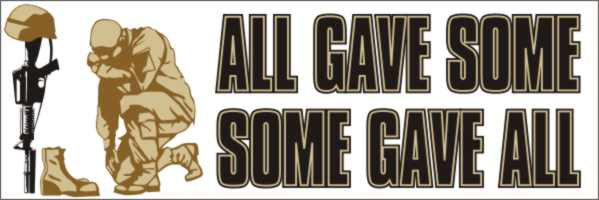 All Gave Some - Fallen Troops Bumper Sticker