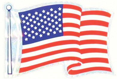 American Flag Prism Sticker (3 on one sheet)