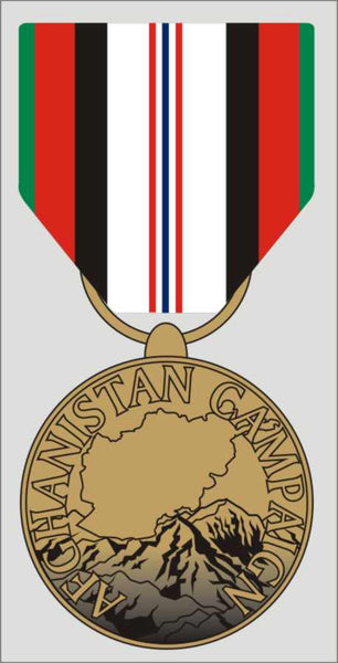 Afghanistan Campaign Service Medal Decal - HATNPATCH