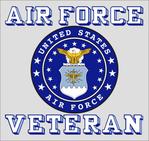 Air Force Veteran W/ Old Logo Decal