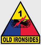 1st Armored Division Decal - HATNPATCH