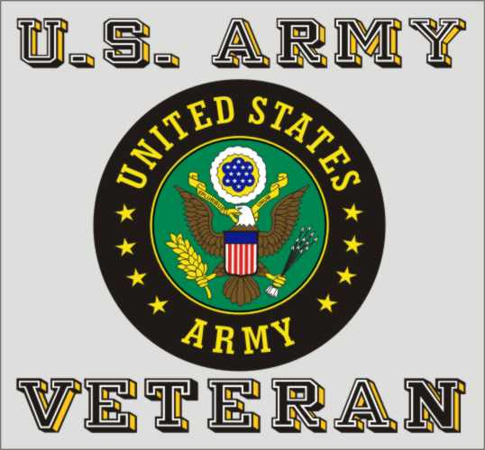 U.S. Army Veteran Decal w/ Crest - HATNPATCH