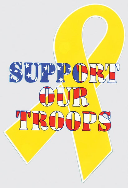 Yellow Ribbon/Support Our Troops Decal