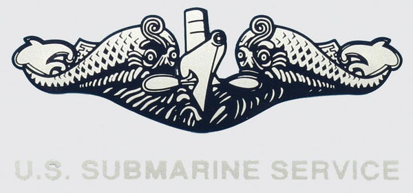 Submarine Dolphin Silver (Med.) Decal - HATNPATCH