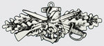 Seabee Combat Warfare Silver Decal - HATNPATCH