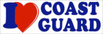I Love (Heart) Coast Guard Bumper Sticker