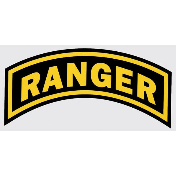 RANGER TAB DECAL - MEDIUM SIZED