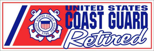 US Coast Guard Retired Bumper Sticker