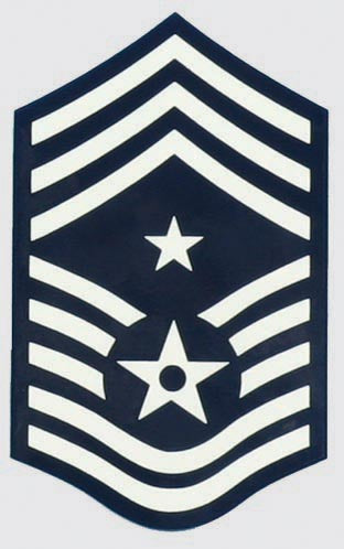 USAF E-9 Command Chief SGT. Decal