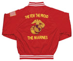 Marine Corps The Few, The Proud, The Marines Red Satin Jacket - HATNPATCH