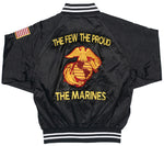 Marine Corps The Few, The Proud, The Marines Black Satin Jacket
