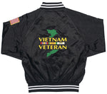 Vietnam Veteran Black Satin Jacket