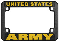 U.S. Army Black Plastic Motorcycle Frame - HATNPATCH