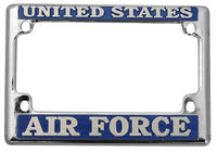 US Air Force Metal Motorcycle Tag License Plate Frame - HATNPATCH