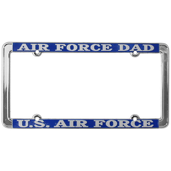 Air Force Dad U.S. Air Force Thin Rim License Plate Frame
