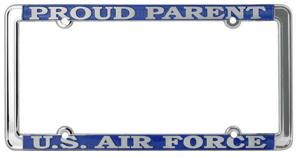 Proud Parent U.S. Air Force Thin Rim License Plate Frame