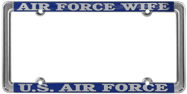 Air Force Wife U.S. Air Force Thin Rim License Plate Frame - HATNPATCH