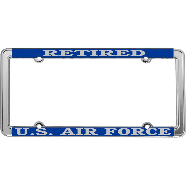 Retired U.S. Air Force Thin Rim License Plate Frame