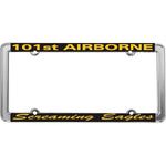 101st Airborne Screaming Eagles Thin Rim License Plate Frame - HATNPATCH
