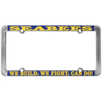Seabees We Build We Fight Can Do Thin Rim License Plate Frame