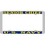 Senior Chief SCPO U.S. Navy Thin Rim License Plate Frame