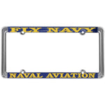 Fly Navy Naval Aviation Thin Rim License Plate Frame