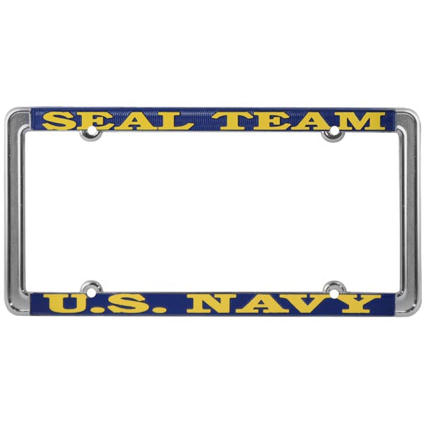 Seal Team U.S. Navy Thin Rim License Plate Frame