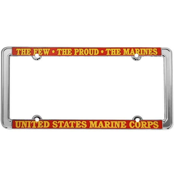 The Few The Proud The Marines Thin Rim License Plate Frame
