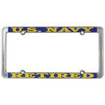 U.S. Navy Retired Thin Rim License Plate Frame
