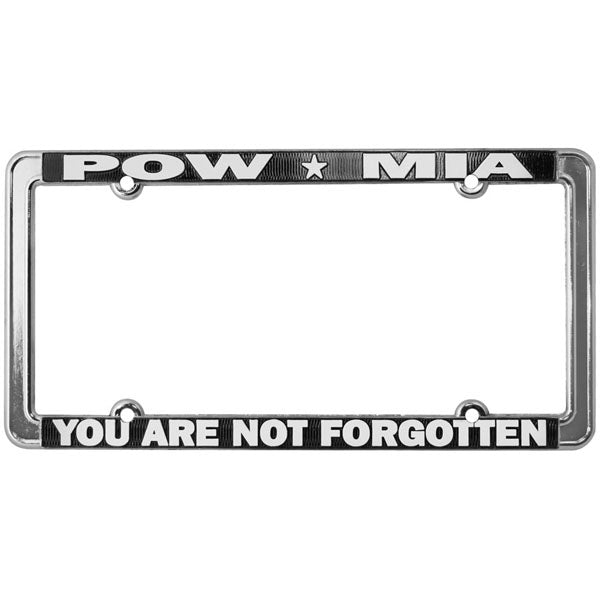 POW MIA You Are Not Forgotten Thin Rim License Plate Frame