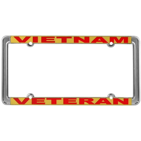 Vietnam Veteran Thin Rim License Plate