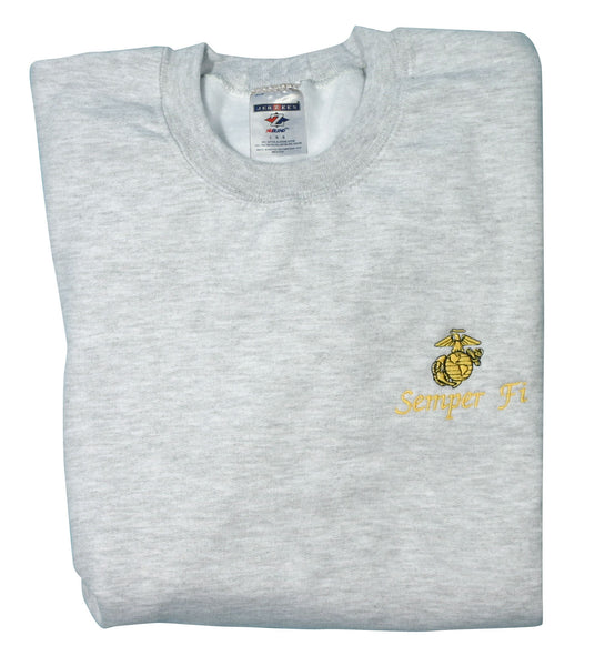 Eagle, Globe and Anchor w/ Semper Fi DEMB Sweatshirt - HATNPATCH
