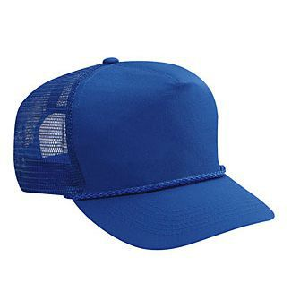 Blank Royal Blue Mesh-back Trucker Hat - HATNPATCH