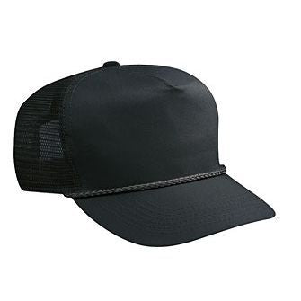 Blank Black Mesh-back Trucker Hat