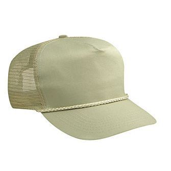 Blank Beige/Tan Mesh-back Trucker Hat