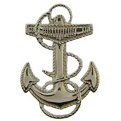 Navy Wave Anchor Hat Pin - HATNPATCH