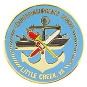 Navy CounterInsurgency School Little Creek VA Hat Pin - HATNPATCH