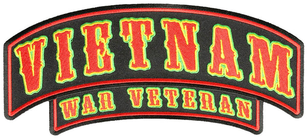 Large VIETNAM WAR VETERAN Top Rocker Back Patch
