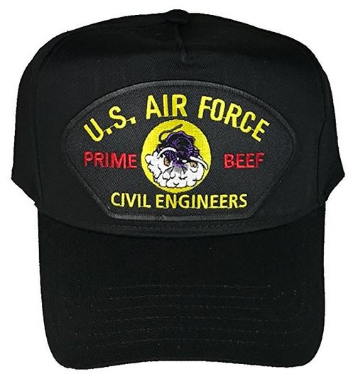 USAF AIR FORCE PRIME BEEF CIVIL ENGINEERS HAT - HATNPATCH