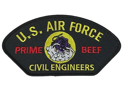 USAF AIR FORCE PRIME BEEF CIVIL ENGINEERS PATCH - HATNPATCH