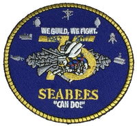75TH ANNIVERSARY U.S. NAVY SEABEES ROUND PATCH